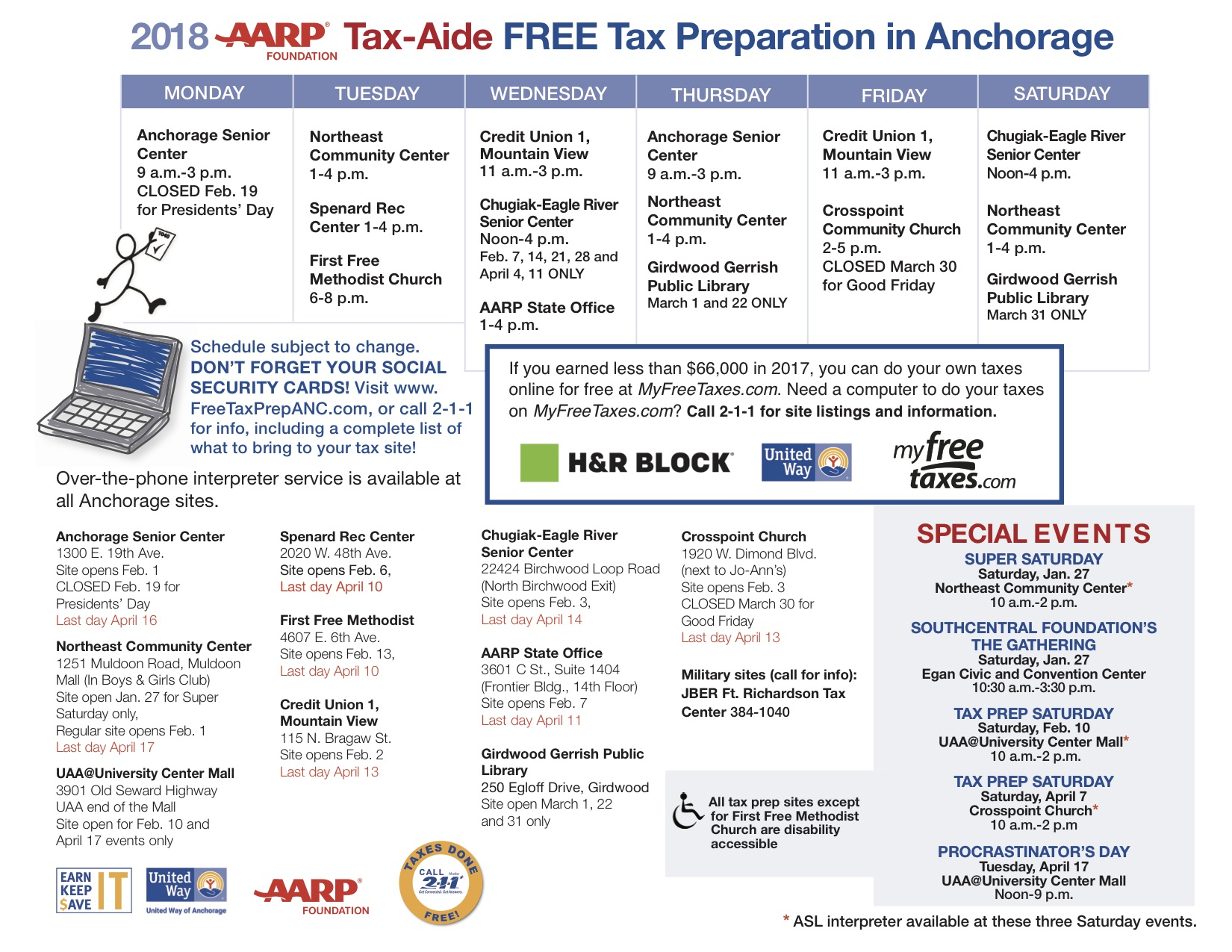 free tax prep sites | free tax preparation in anchorage